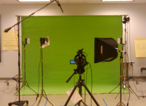 Chroma Key studio setup
