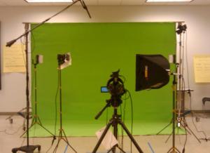 Chroma Key studio setup
